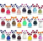 Novelty cat shape nail polish / varnish 6ml quantity 2 -24 bottles kids