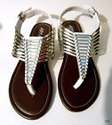 Womens Modern Fashion Sandals By Hot Cakes Glisten Silver And White New With Box