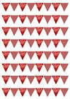 64 Happy Valentines Day SMALL Bunting Edible Icing Sheet Cake Toppers