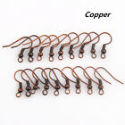100Pcs Silver/Gold Plated Earring Hook Coil Ear Wire For Jewelry Making Findings