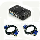 2/4 Port USB 2.0 Plus VGA USB Cables For Computer Sharing Monitor KVM Switch Box