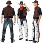 Adult Cowboy Fancy Dress Outfit Mens Western Costume Wild West