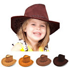 Kid Boy Girl Western Cowboy Hat Child Wide Brim Artificial Suede Party Hats Gift