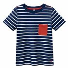 Joules Jnr Olly Striped T Shirt Navy Stripe Boys Tee Age 3 to 10