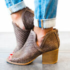 Qupid Shoes Core Peep Toe Ankle Booties in Dark Taupe CORE-27