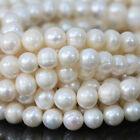 Freshwater Natural Real Pearl Round Loose Beads 14.5'' 4/5/6/7/8/9/10/12mm