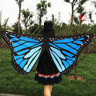 Women Fabric Soft Butterfly Wings Shawl Fairy Pixie Costume Accessory Pro HOT