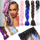 Long Jumbo Braiding Hair Extension Ombre Kanekalon Twist Braids Any Colors Fcd