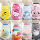 Cartoon Small Dog Clothes Pet Puppy Cute Vest Dog Cat Apparel 11 Color Warm