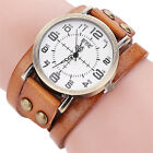 Women's Leather Bracelet Watch Stainless Steel Analog Quartz Dress Wrist Watches