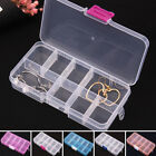 10 Compartments Plastic Box Jewelry Bead Storage Container Craft Organizer Hot