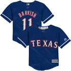 Texas Rangers Majestic Toddler Official Cool Base Player Jersey Baseball - Royal