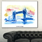 london cityscape canvas - London Hand'drawn Illustration' Cityscape Painting Canvas Print