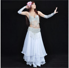Professional Belly Dance Costumes Bra+Hip Belt 2pcs set Performance Outfits #849