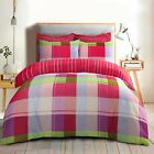 Harley Multi Color Check Duvet Cover Quilt Bedding Set With Pillow Cases £12.99 GBP on eBay