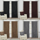 Faux Suede Tape Top Pencil Pleat Lined Curtains In Black Chocolate Mink Silver
