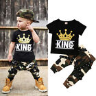 Baby - USA Toddler Kids Baby Boys Tops T-shirt Camo Pants 2Pcs Outfits Set Clothes 0-5T