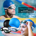 Men Women Swimming Goggles Anti-Fog UV Protection Crystal Clear Vision Flexible