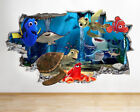 M382 Finding Nemo Friends Fish Sea Smashed Wall Decal 3D Art Stickers Vinyl Room