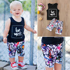 2pcs Baby Boy T-shirt Top+Pants Shorts Outfit Newborn Kids S