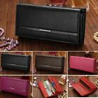 New Hot Sale Women High Quality Solid Button Leather Hand Bag Long TXCL