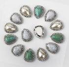 30Pcs Mixed Colors Teardrop Acrlic Stone Settings DIY Accessories 13x18mm