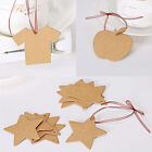 100Pcs Kraft Paper Heart Star Shape Gift Tags Wedding Card DIY Price Label Hang