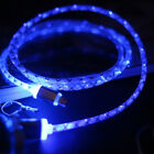 1 M Universal  LED Visible Light Micro USB A to USB Data Sync Charger Cable
