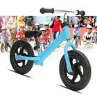12'' Kids Balance Bike Push Bicycle No Pedal Learn To Ride With Adjustable Seat