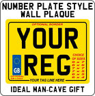 METAL PLAQUE SIGN - novelty Number Plate design no plates style motor cycle gift