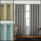 MODERN THERMAL INTERLINED LUXURY EYELET NEW CURTAIN WITH DIAMOND JACQUARD DESIGN
