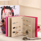 Book Shape Holder Stand Earring Rack Organizer Necklace Jewelry Display Hanging