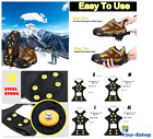 Snow And Ice Cleats Spike Anti-Skid Rubber Traction Shoe For Hiking Boots Shoes