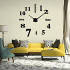 Acrylic Modern DIY Wall Clock 3D Mirror Surface Sticker Home Office Decor Gifts