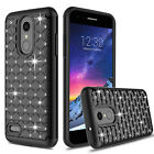 For LG Aristo 2/3/Rebel 4 LTE/Tribute Empire Case Bling Shockproof Phone Cover