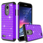 For LG Aristo 2/3/Plus/Rebel 4 /Tribute Empire Case Bling Shockproof Phone Cover