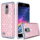 For LG Aristo 2/Tribute Dynasty Case Bling Diamond Armor Shockproof Phone Cover