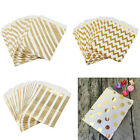 50/100x Foil Gold Paper Sweet Bag Candy Favor Wedding Party Birthday Gift Decor