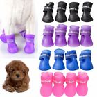 4Pcs Anti-Slip Dog Cat Rain Protective Boots Waterproof Puppy Pet Shoes S/M/L