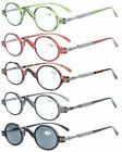 5-pack Eyekepper Spring Temple Vintage Mini Small Oval Round Reading Glasses