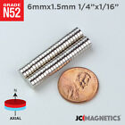 Внешний вид - 6 mm x 1.5 mm 1/4in x 1/16in N52 Small Strong Disc Rare Earth Neodymium Magnet