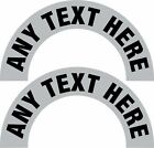 Any Title Rank Name Helmet Crescent Reflective Decal Sticker - Various Colors