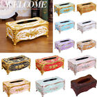 Elegant Gold Tissue Box Cover Chic Napkin Cases Holder Hotel Home Decor Organize