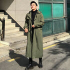 Fashion Mens Overcoat Double Breasted Trench Coat Long Jacket Casual Street Size