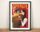 APEROL POSTER: Vintage Italian Drink Advert Reprint, Red