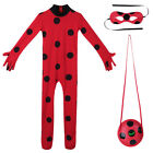Girls Cartoon Costume+Mask+Bag Jumpsuit Tight Outfits Fancy Dress Christmas