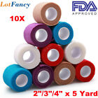 Pet Horse Dog Cat Vet Puppy Wound Cohesive Bandage Self Adherent Sport Wrap Tape