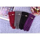 New Design Women Full Fingers Cashmere Thick Warm Touch Screen Knit Gloves Winte