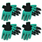 1/2/4 Pairs Garden Gloves with Claws Digging & Planting w/ 4 ABS Claws Gardening