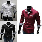 Men Fashion Luxury Dress Office Shirt Long Sleeve Tee Shirt Casual Slim Fit TOPS